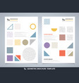 abstract colorful geometric brochure modern vector image vector image