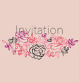 abstract rose flowers vector image vector image