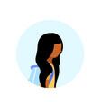 african american school girl profile avatar icon vector image