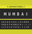 airport flip board showing flight departure vector image vector image