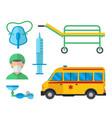 ambulance medicine health emergency car vector image vector image