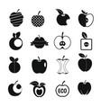 Apple icons set design logo simple style