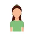 avatar woman portrait female person image vector image vector image
