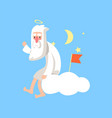 bearded god character sitting on vector image vector image