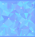 beautiful blue abstract background of triangles vector image vector image