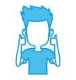 boy faceless cartoon vector image