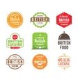 British cuisine label vector image vector image