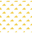 bundle coin pattern seamless vector image vector image