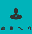 businessman icon flat vector image vector image