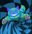cheshire cat jumping vector image vector image
