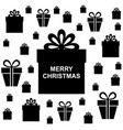 christmas box gifts background vector image vector image