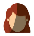 color image shading front view faceless closeup vector image
