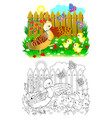 colorful and black and white page for coloring vector image