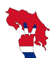 Costa Rica Hand Signal vector image vector image