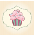 cupcake with pearls vector image vector image