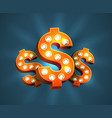 decorated dollar sign vector image vector image