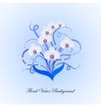 Decorative bouquet of white orchid vector image vector image
