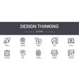 design thinking concept line icons set contains vector image vector image