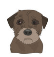 dog portrait profile look down vector image vector image