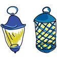 drawn lamps vector image vector image