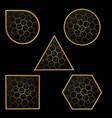 figures golden art deco pattern vector image vector image