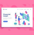 financial target concept office people and vector image