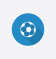 football ball Flat Blue Simple Icon with long vector image vector image