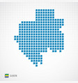 gabon map and flag icon vector image