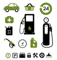 Gasoline station icons set vector image