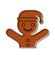 ginger cookie christmas icon vector image vector image