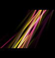 glowing neon smooth rays abstract background vector image