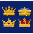 golden crown emperor icon or monarch tiara vector image vector image