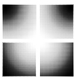 Halftone effect templates for backgrounds vector image vector image
