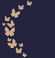 Holiday card with carton paper butterflies vector image vector image