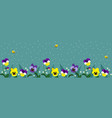 horizontal banners with cute bees and flowers vector image