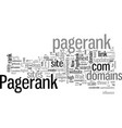 how to get a pagerank in days vector image vector image