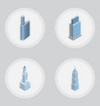isometric building set of cityscape urban vector image