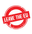 leave the eu rubber stamp vector image