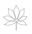line art style cassava leaf silhouette line vector image vector image