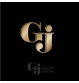 logo g and j monogram compound vector image vector image