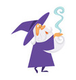 magician or wizard and magic smoke or spell old vector image vector image