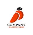 modern bird dove logo vector image