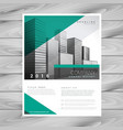 modern green brochure flyer design cover vector image