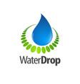 nature waterdrop logo concept design symbol vector image vector image