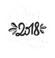 new year 2018 lettering vector image