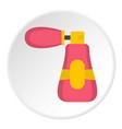 perfume icon circle vector image vector image