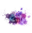 positive thoughts hand lettering phrase on vector image vector image