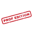 Prof Edition Rubber Stamp vector image vector image