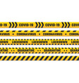 quarantine stripes yellow tape for border vector image vector image