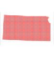 red dot map of kansas vector image